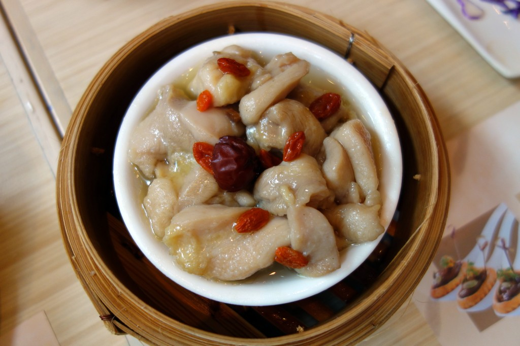 Braised fish maw and chicken in hua diao